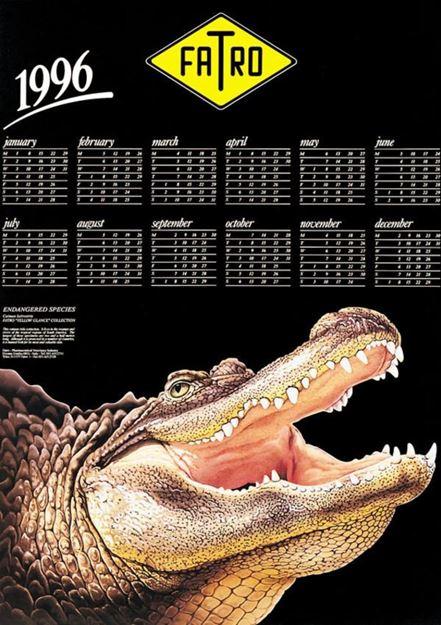 Calendario 1996.Fatro Calendario 1996