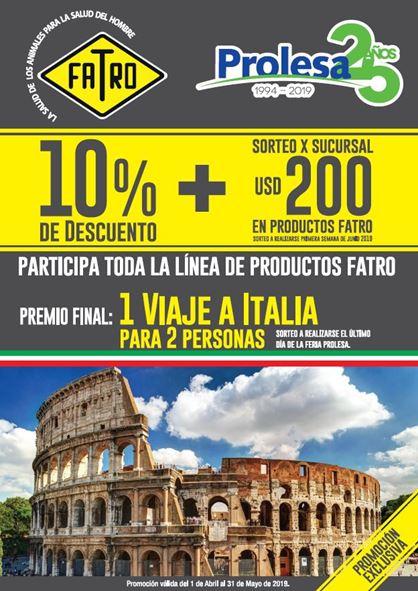 Durante Abril y Mayo Gran Promo FATRO - PROLESA