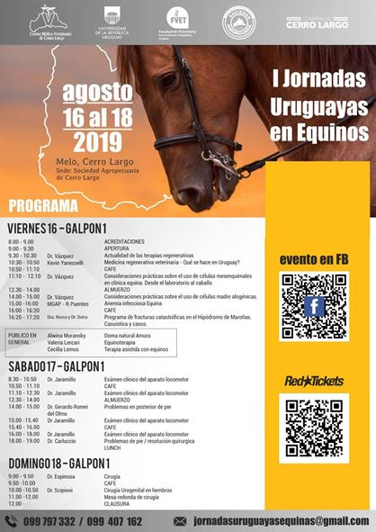 I Jornadas Uruguayas en Equinos