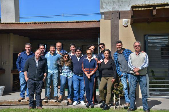 Visita de Silvana Dal Magro a Uruguay